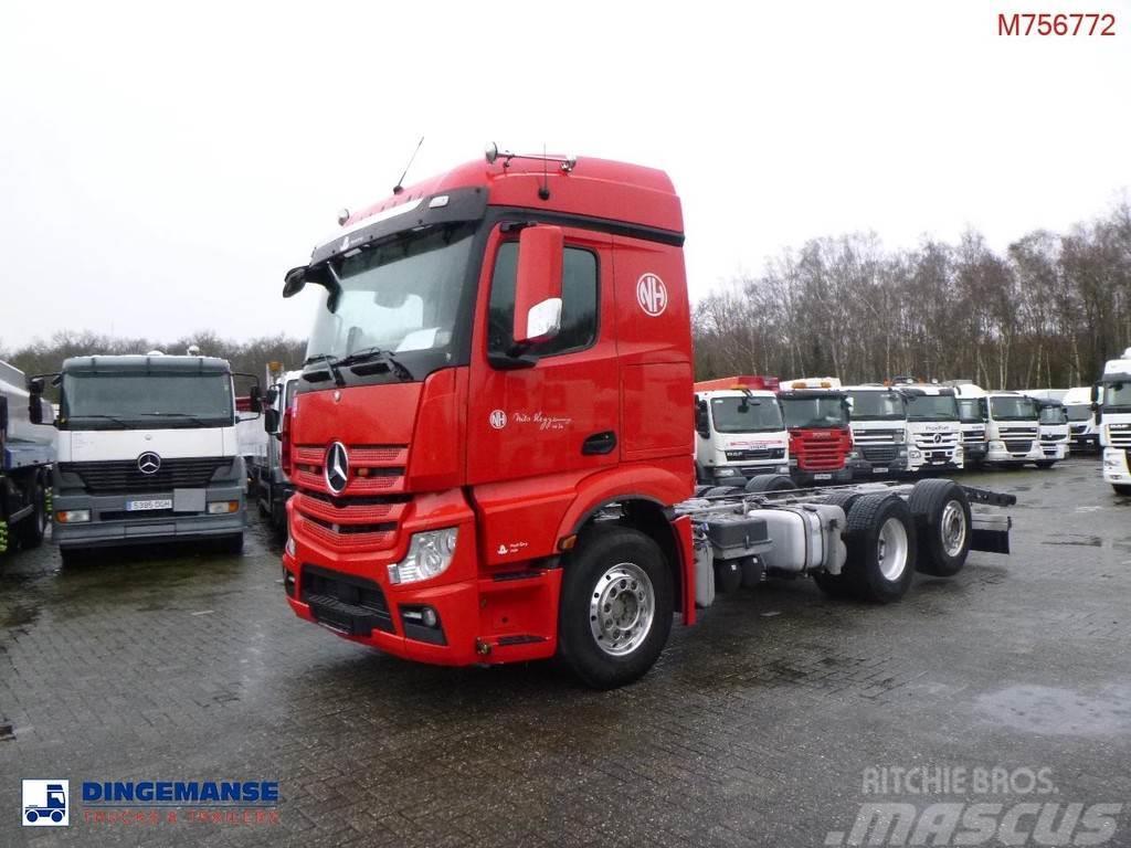 Mercedes-Benz Actros 2551 6x2 Euro 6 chassis + PTO + Retarder