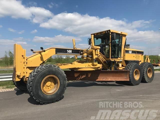 Caterpillar 14H Motor Grader (MS ripper + Push Block)