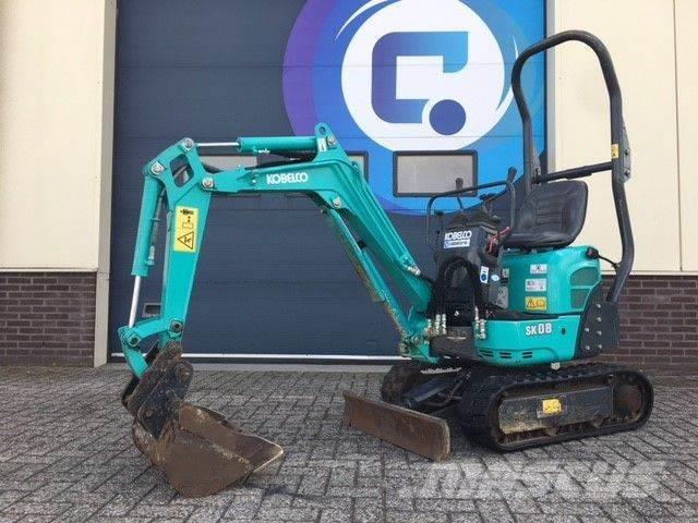 Kobelco SK08 Mini graafmachine - Mini Excavator - Year 201