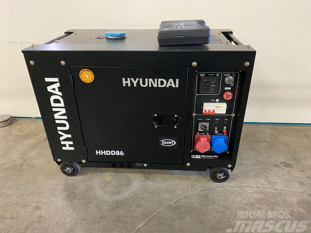 Hyundai Aggregaat / Generator, 8 KVA, 230 + 400 volt