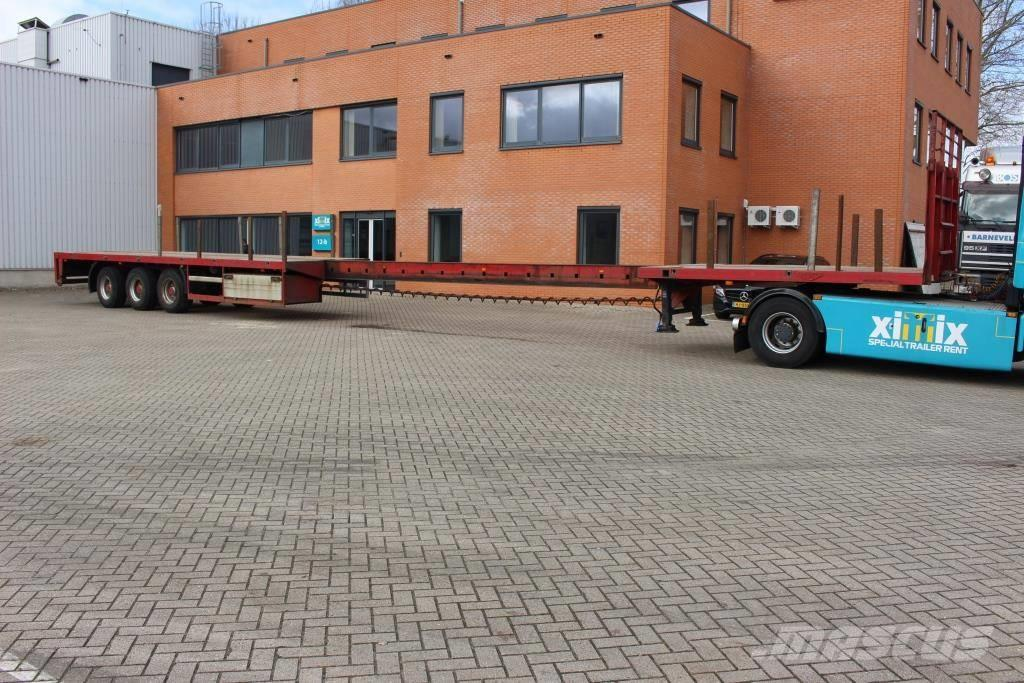 Broshuis Extendable flat trailer // Friction steering