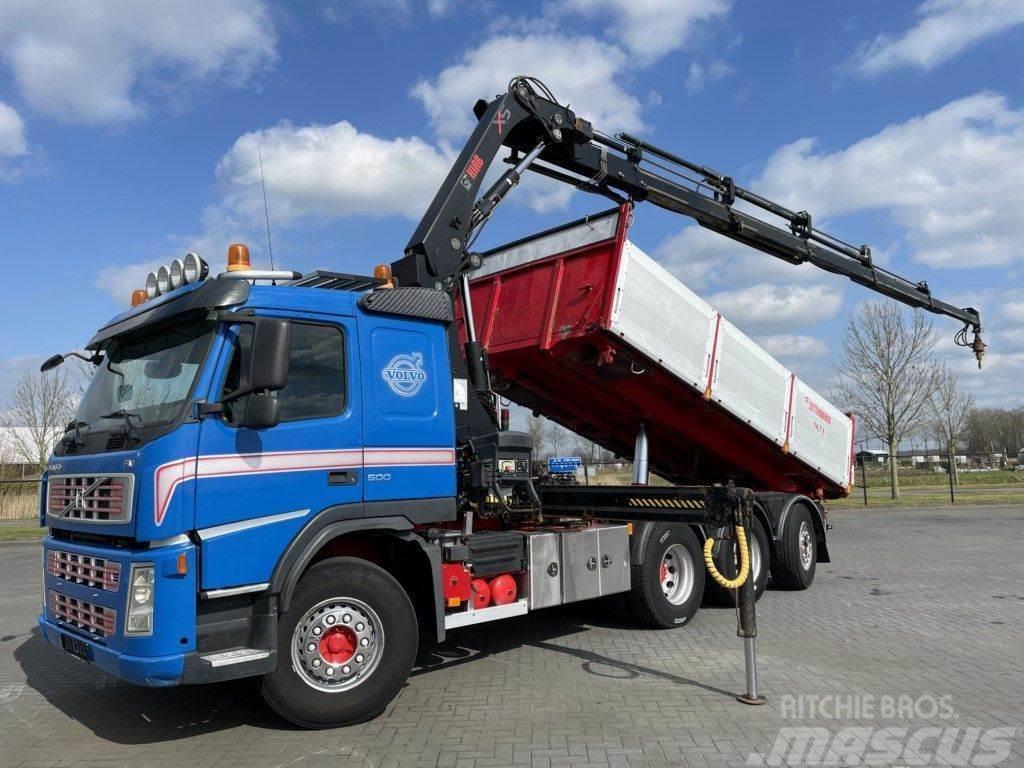 Volvo FM500 8x4 3 WAY TIP CRANE HIAB 211 EP-5 RADIO EURO