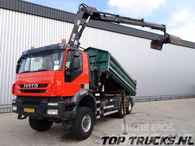Iveco 6x4 Kipper, Hiab 14TM Kraan, Crane, Kran
