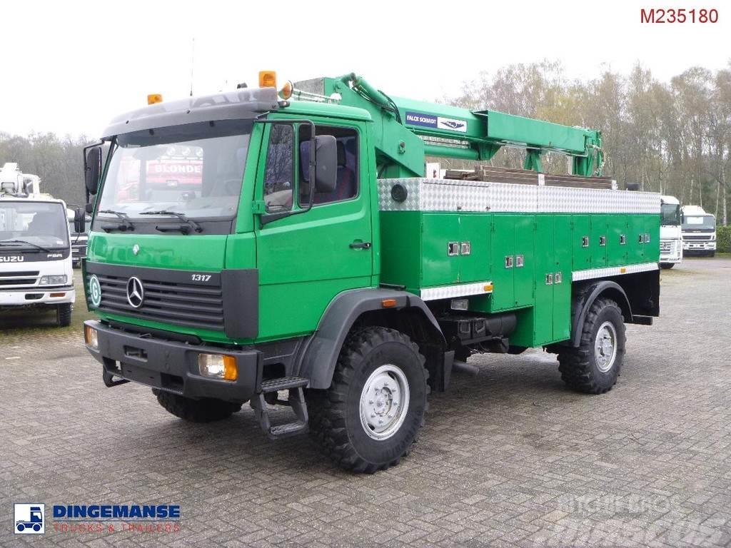 Mercedes-Benz 1317AK 4x4 Falck Schmidt manlift 13 m