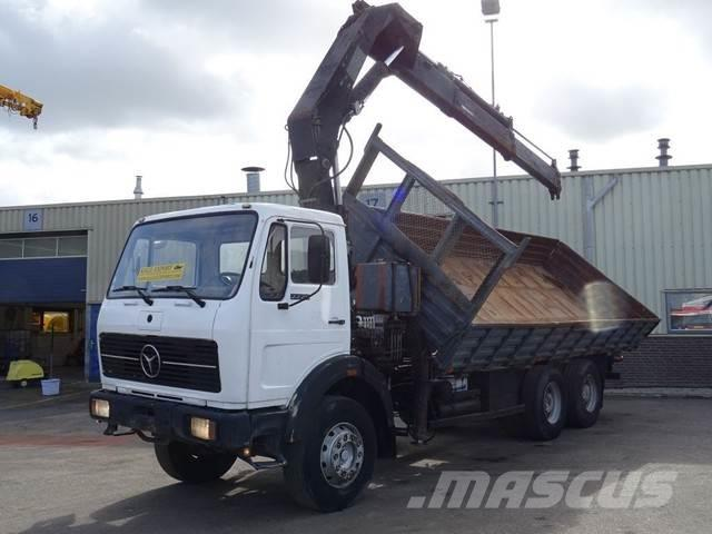 Mercedes-Benz 2226 Kipper 6x4 Hiab 190 Crane V8 ZF Good Conditio