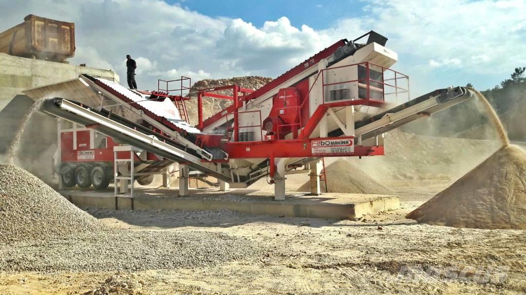 Fabo 200 T/H MOBILE STONE CRUSHING PLANT FOR LIMESTONE