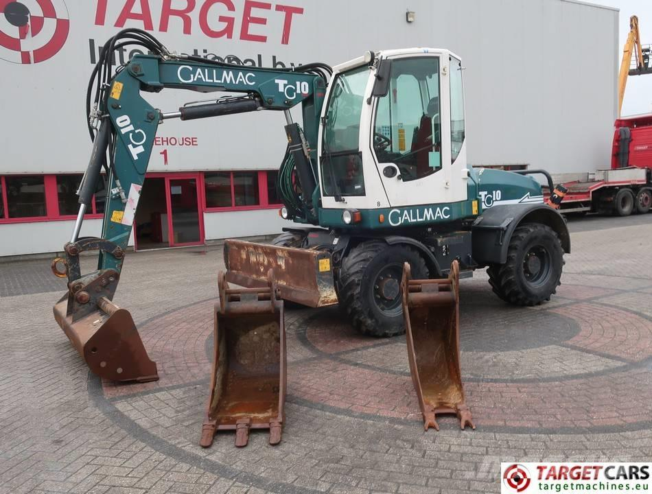 Gallmac TG10 Mobile Wheel Excavator Offset Boom 3 Buckets