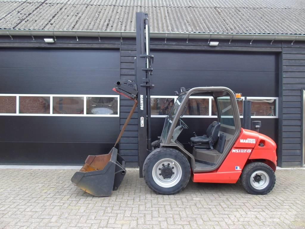Manitou MSI 25 D Verkocht ruwterrein heftruck met grondbak