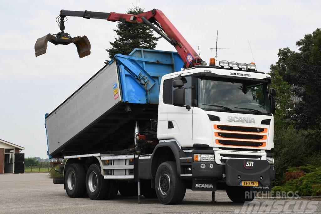 Scania G450 Z-kraan/Kipper!!200dkm!!EURO6!!2015!!TOP!!