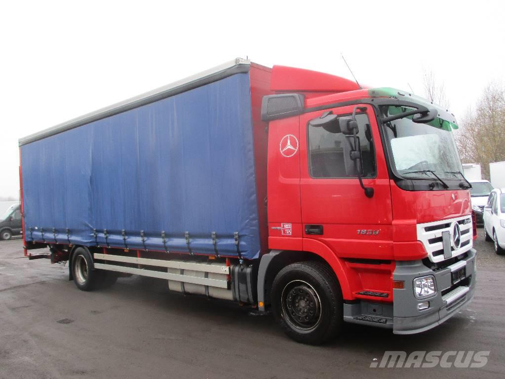 used mercedes benz actros 1836 pressening lift aut curtain side trucks year 2008 for sale. Black Bedroom Furniture Sets. Home Design Ideas