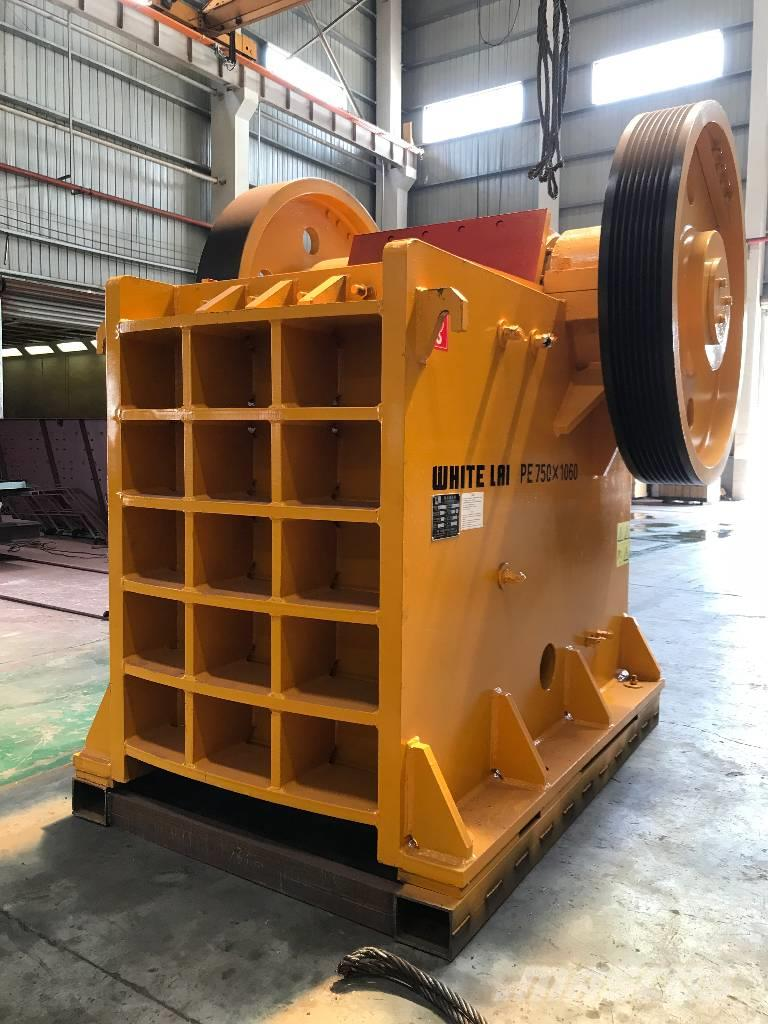 White Lai Jaw Crusher for Primary Stone Crushing PE-750x1060