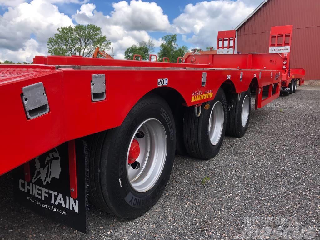 Chieftain 3-axl maskintransport 28 ton lastvikt