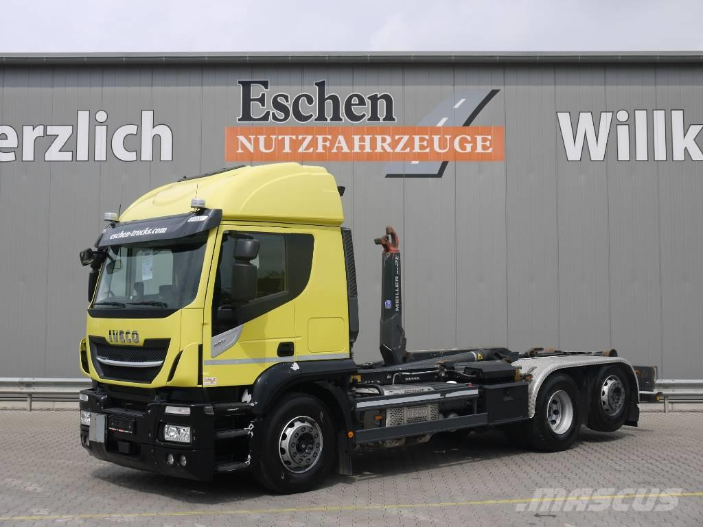 Iveco Stralis 420 6x2, AT 260 SY/PS, Meiller RS 21.65