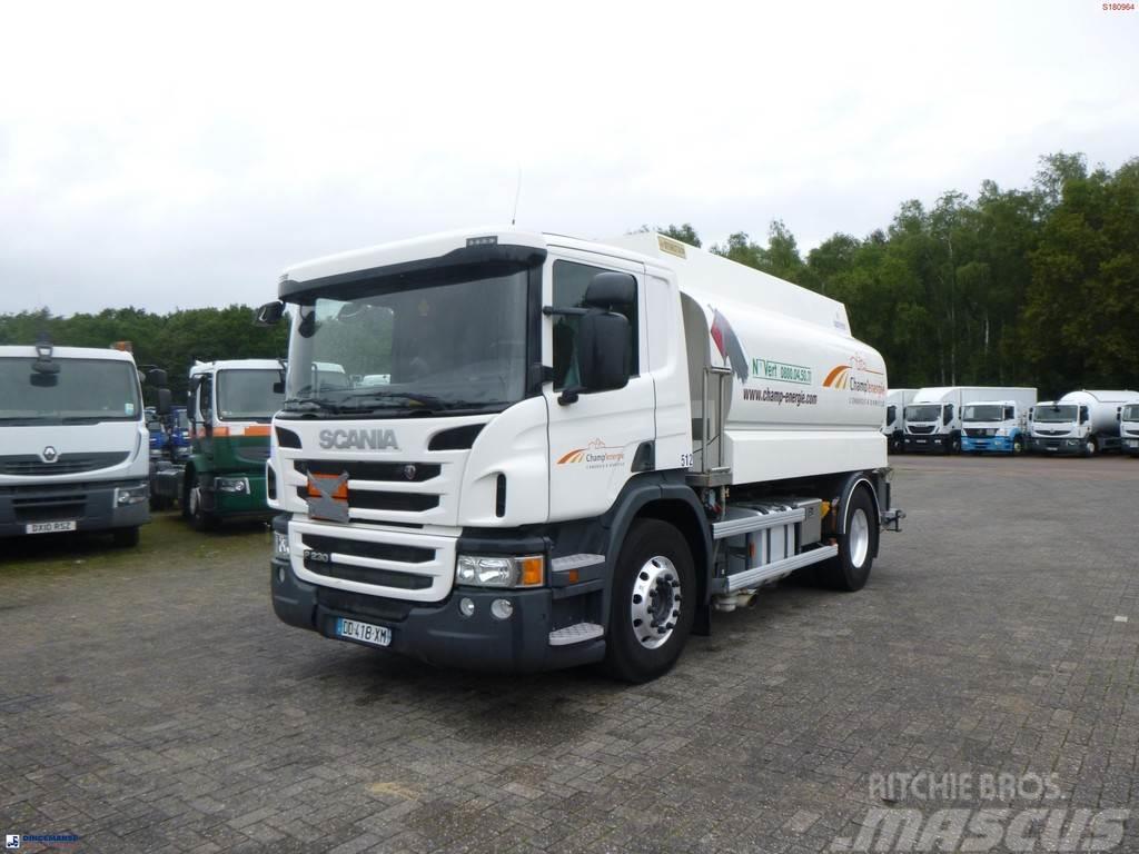 Scania P230 4x2 fuel tank alu 12.7 m3 / 4 comp