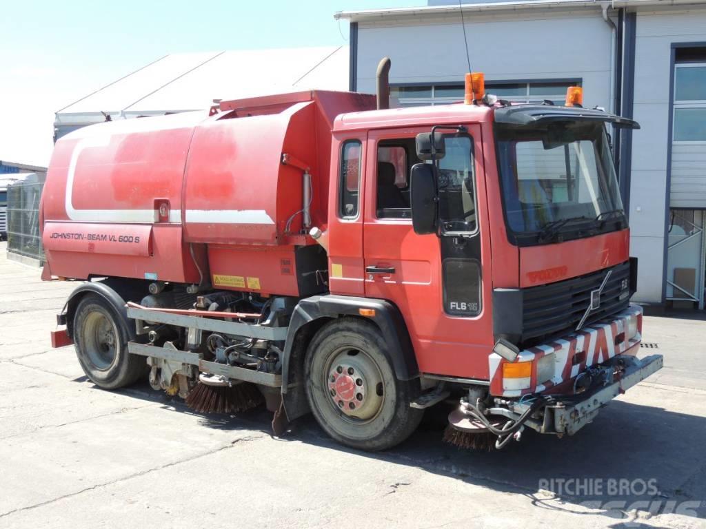 Volvo FL615 Zamiatarka Johnston-Beam VL600 S, USZKODZONY