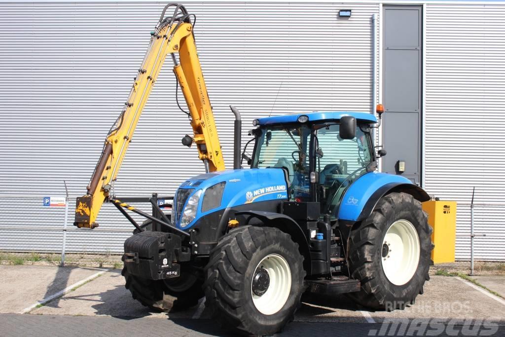 New Holland T7.200 met Herder Grenadier MBK 513 LS maaiarm