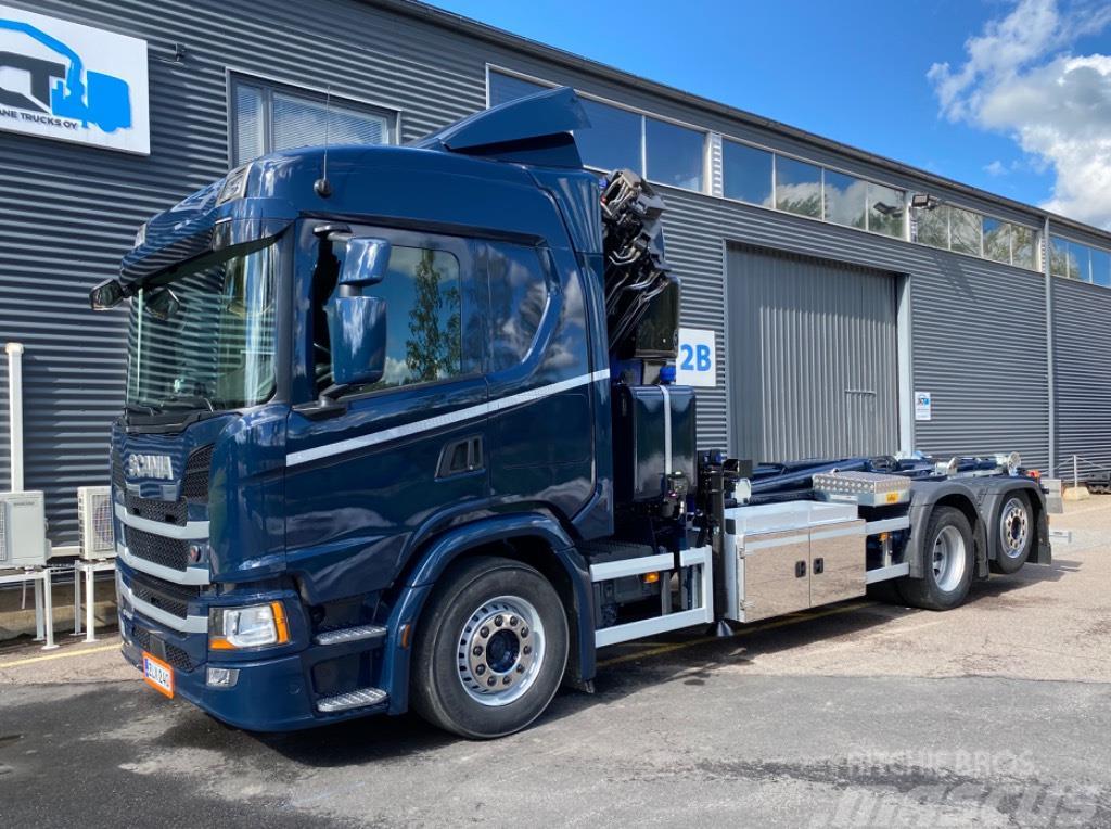Scania G450 6x2 Uusi PM30.5SP Nosturi ja koukkulaitteet