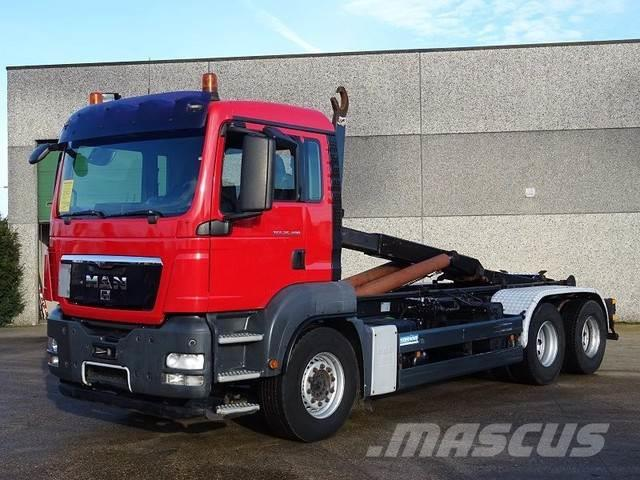 MAN TGS 26.400 6X4 containersysteem - haaksysteem