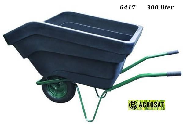 Agrosat Talicska LV1 120 liter egykerekes fix puttony6740