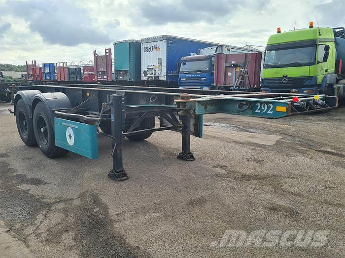 Van Hool S-201 Container chassis 20ft.