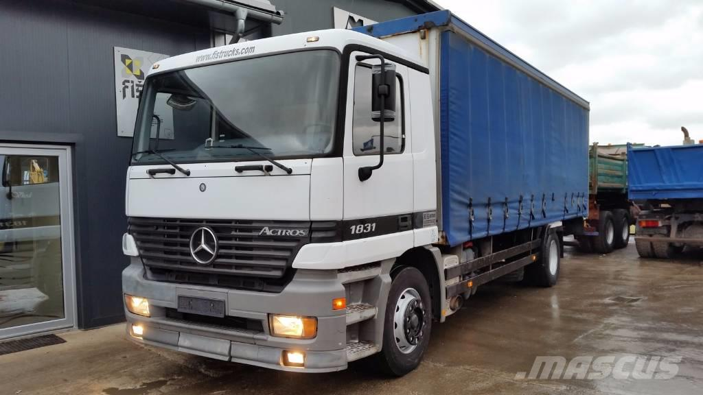 Mercedes-Benz ACTROS 1831 4x2 stake body + taurpaulin