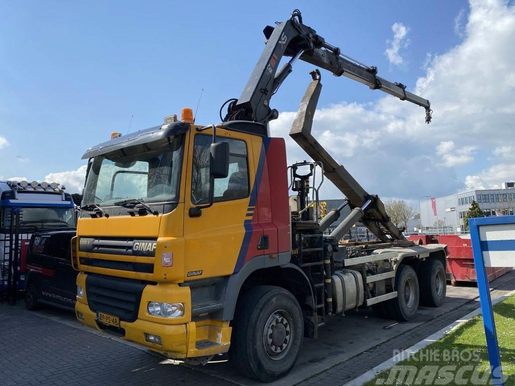 Ginaf X 3335 S 6X6 MANUAL + HOOKLIFT + 2012 HIAB 211E-3