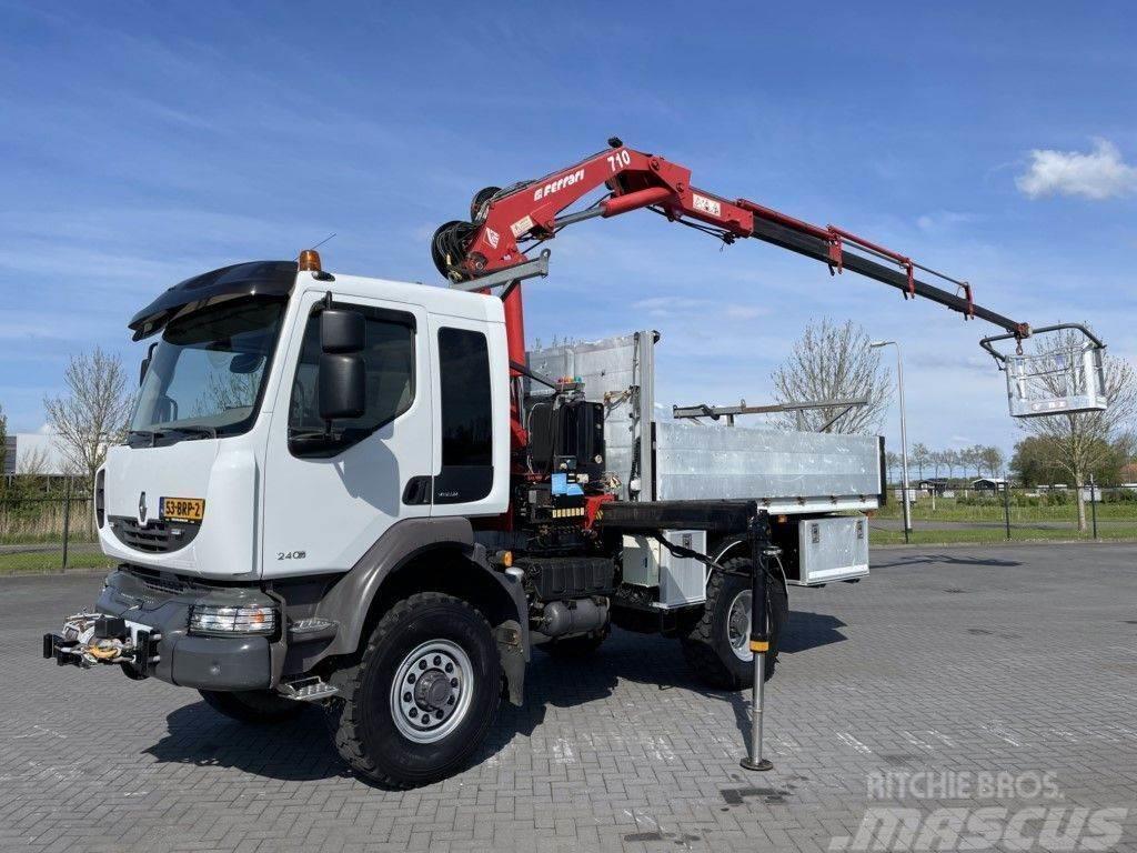 Renault MIDLUM 240 DXI 4X4 MANUAL FERRARI 710 CRANE KRAN G