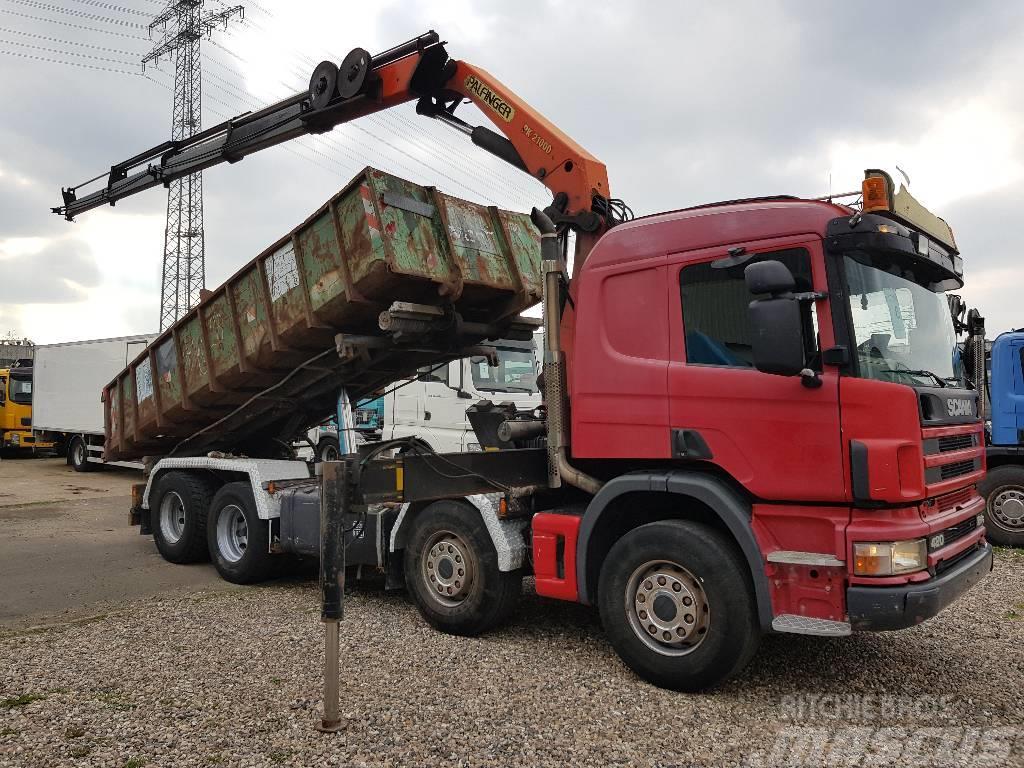 Scania 124 G 420 mit Palfinger PK 21000 und Container