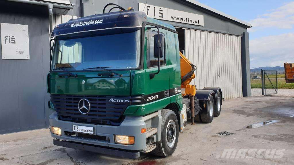 Mercedes-Benz Actros 2643 6x4 tractor unit + EFFER crane 24000