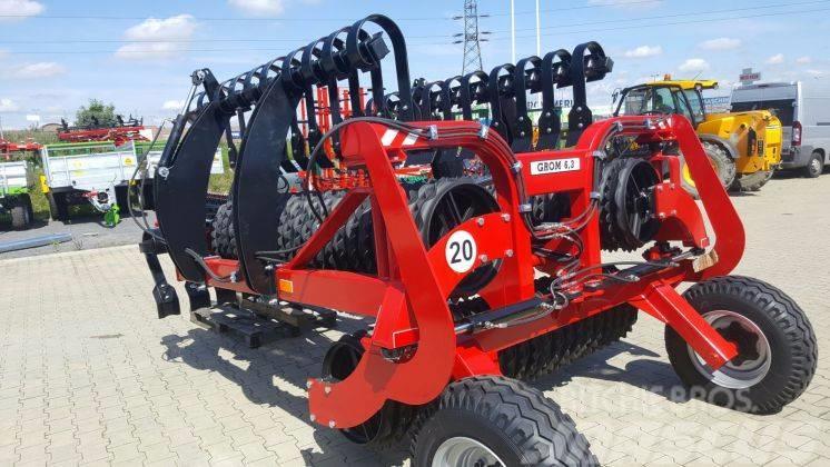 Agro-Factory GROM, 6,3m 530mm cambridge roller + crossboard
