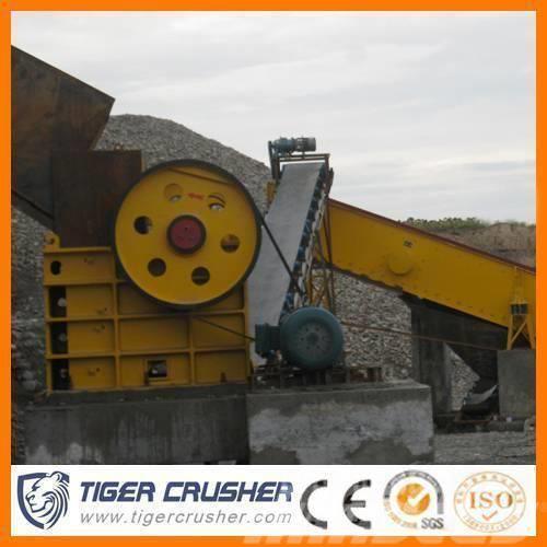 Tigercrusher Des carrières PE série de Concasseur à mâchoires