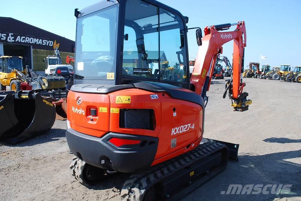 Kubota KX 027 Minigrävare, 2,7 ton
