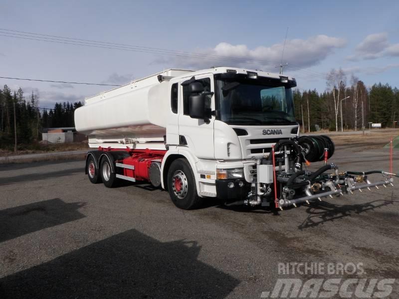 Scania P380 + Serco-kadunpesulaite + vesisäiliö 14500 lit