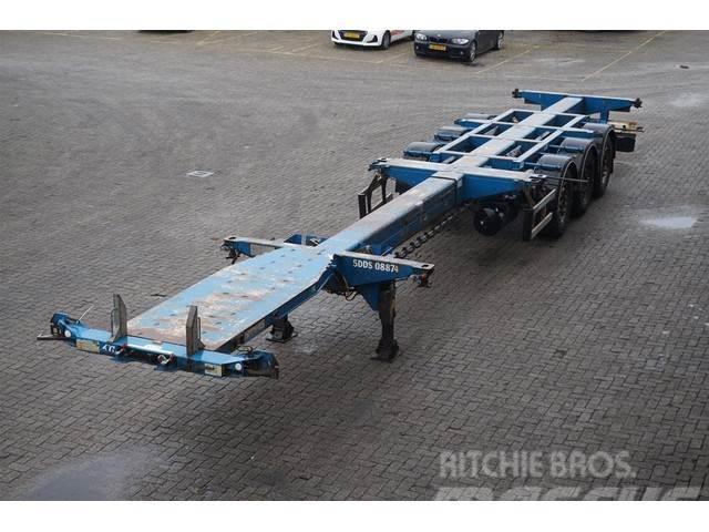 D-tec Container Chassis 3-assig/ uitschuifbaar/multi