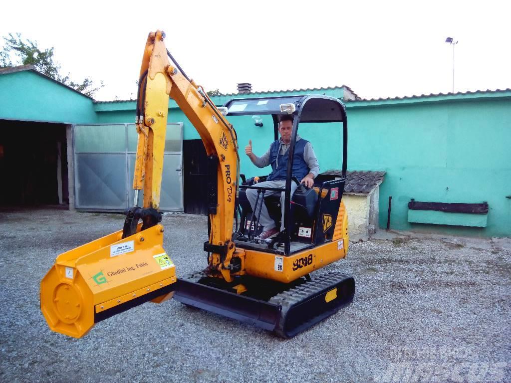 Ghedini bush cutter for mini excavators DA series