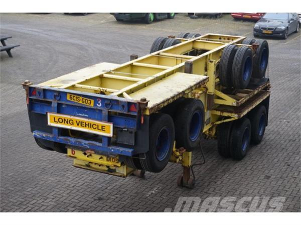 M&G Container chassis 2-assig Full steel 20ft
