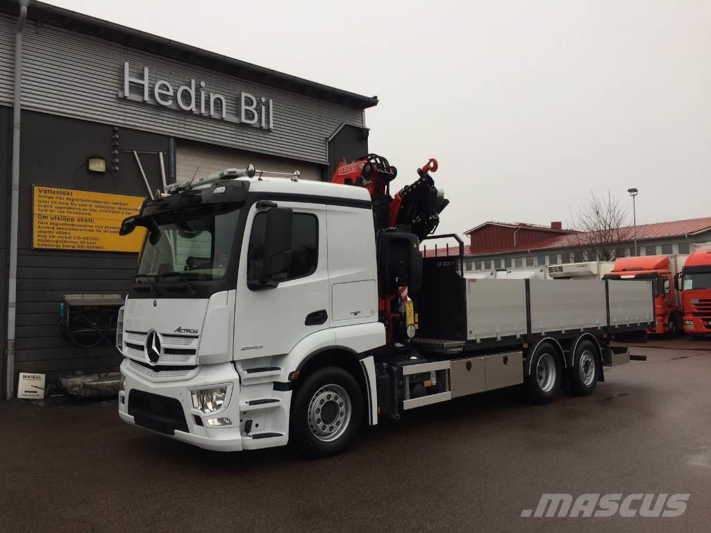 Used mercedes benz actros 2543l crane trucks year 2018 for Mercedes benz trucks usa
