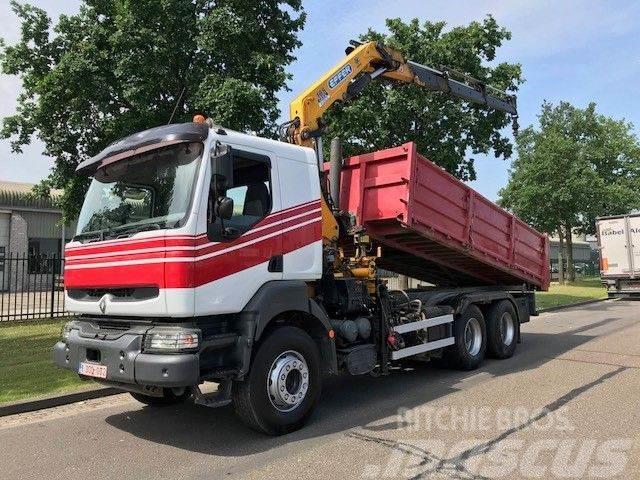 Renault 420 DCI 6x4 Tipper/Crane