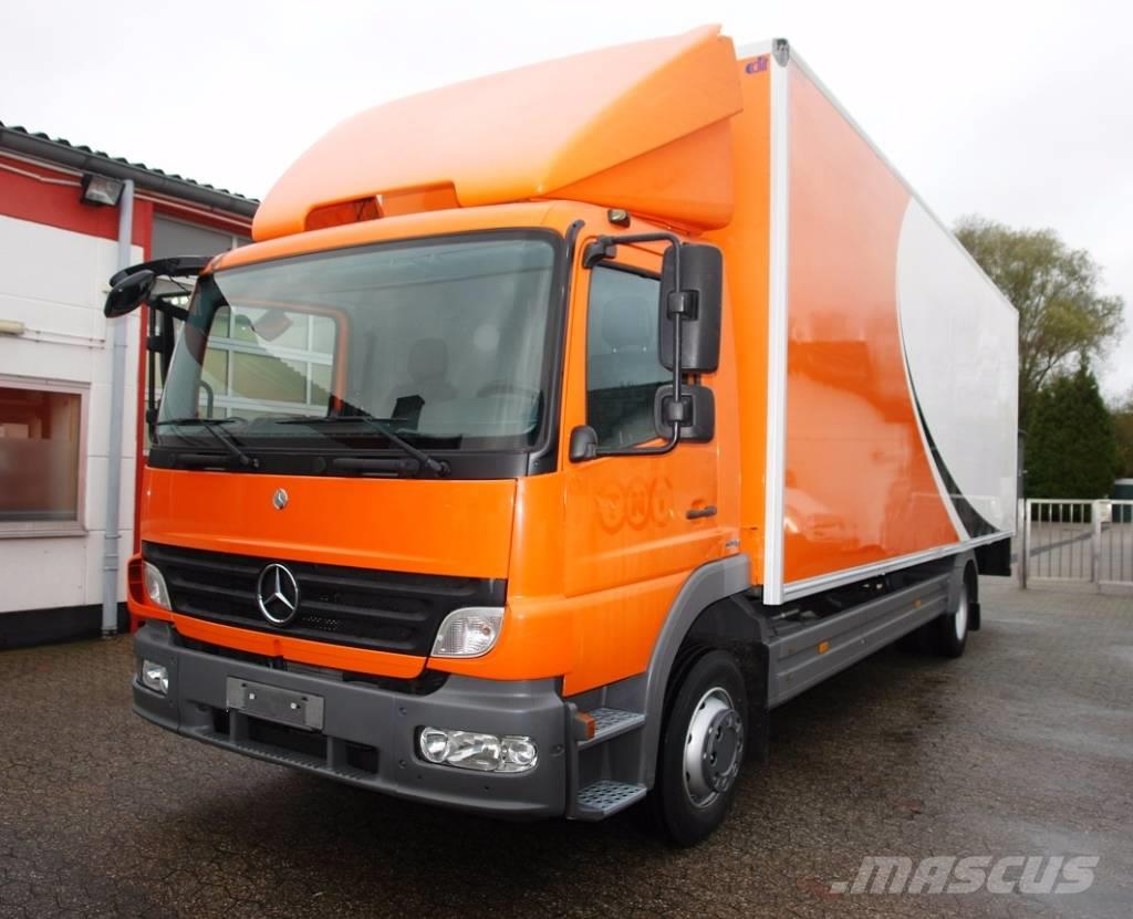 used mercedes benz atego 1218 koffer ladebordwand t v bis box trucks year 2007 price. Black Bedroom Furniture Sets. Home Design Ideas