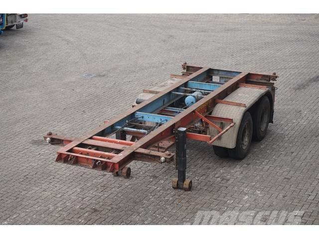 Van Hool Container chassis 2-assig/20ft/full steel