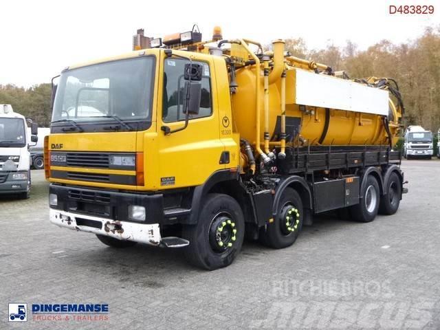 DAF CF 85.430 8x4 vacuum / recycling / hydrocureur 10.