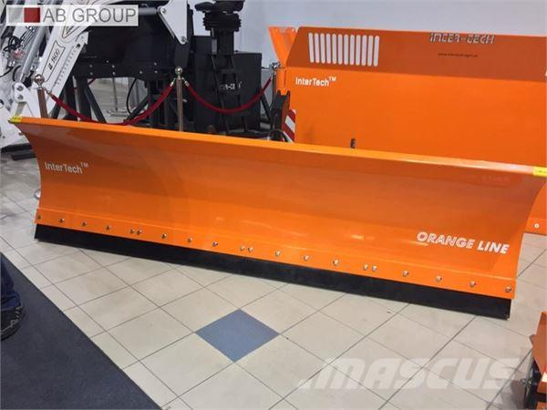 Inter-Tech Hydraulic plough PSSH-04, 3m