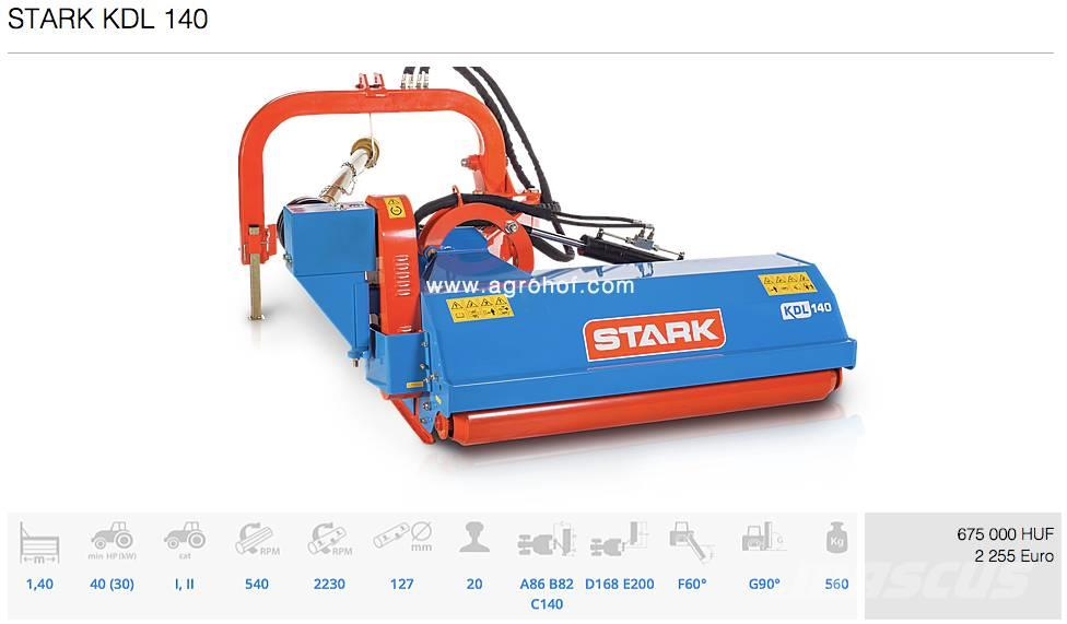 Stark KDL 140, 2017, Pasture mowers and toppers