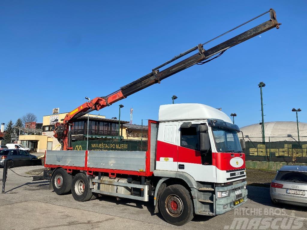 Iveco 260E43 6x2 with crane