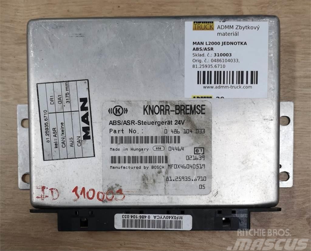 MAN L2000 JEDNOTKA ABS/ASR 0486104033, 81.25935.6710