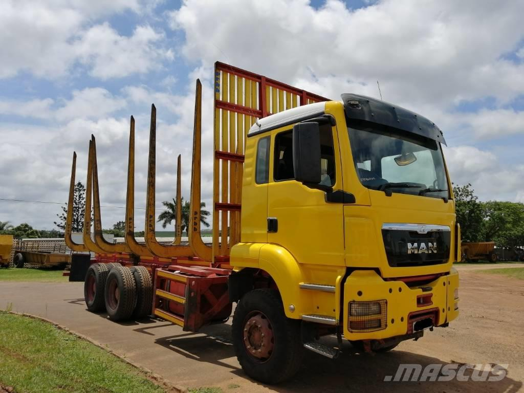 MAN 33.480 TGS (6X4) RIGID WITH TIMBER BODY