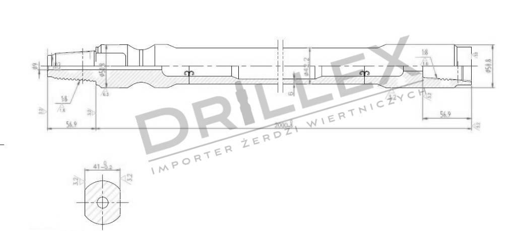 Ditch Witch JT 920 Drill pipes, Żerdzie wiertnicze