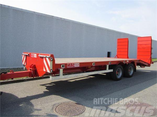 MAC 18 tons maskintrailer LOADED
