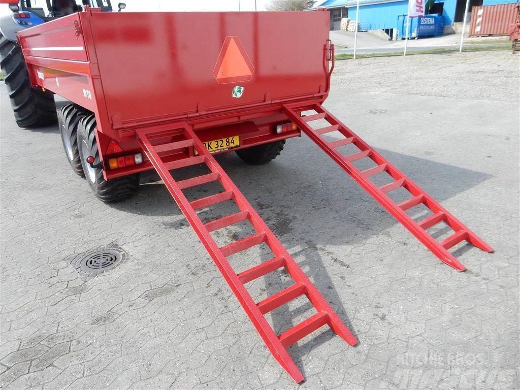 Tinaz 10 tons dumpervogn med slidsker, Kombivagnar