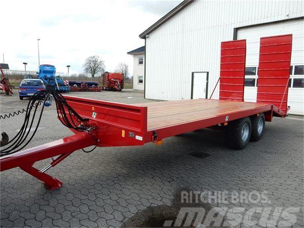 Tinaz 12 tons maskintrailer med hydr. ramper